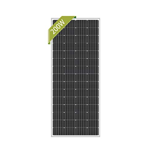 Newpowa 200W Monocrystalline 200 Watt 12V Solar Panel High Efficiency Mono Module RV...