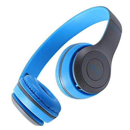 HCHL Cubierta Suave para Los Oídos del Ordenador Portátil del Auricular, Auriculares Auriculares Inalámbricos Bluetooth, Cascos Estéreo De Música con Auriculares (Color : Blue)