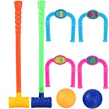 JUSTDOLIFE Kids Sport Toy Set Creative Educational Training Croquet Set Outdoor Game Toy