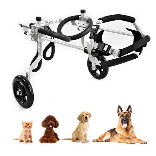 Cora Pet Dog Wheelchair Hunderollstuhl Rollstuhl für Hunde Katze Hase, Hinterbein/Hintere Füße, Rollwagen Gehhilfe Hundegehilfe Hunderollwagen, Haustier von 1~60 KG
