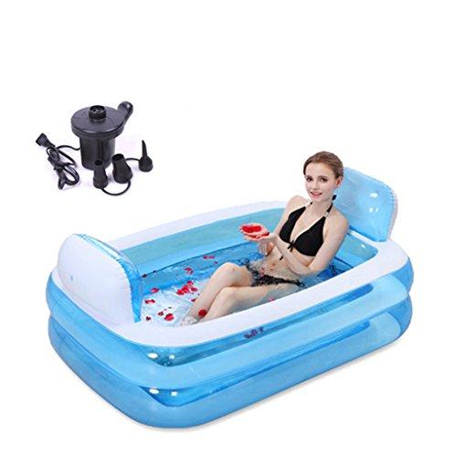 Piscine pour enfants Baignoire gonflée Isolation plus épais Piscine pour bébés Baignoires de bain Bassin de bain Baignoire pliante en plastique Accueil ( Couleur : B , taille : 152*108*37CM )