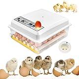 TTLIFE 36 Incubatrice per uova, Mini incubatrice automatica digitale adatta per uova di diverse dimensioni, Incubatrice per uova con rotazione automatica con controllo intelligente della temperatura