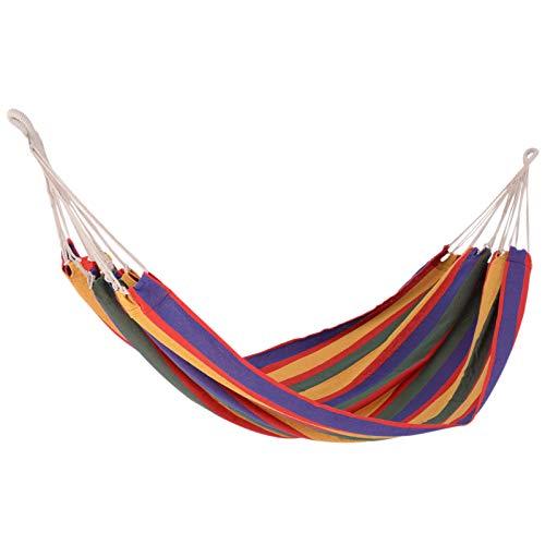 Outsunny Hamaca para Colgar 200x100 cm Color Morado para 2 Personas para Playa Piscina Jardin Camping 70% Algodon