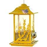 Comederos para pajaros Exterior Colgar Comedero para pájaros con tejado Circular Dispensador de Comida para Aves Alimentador Decorativo para su jardín