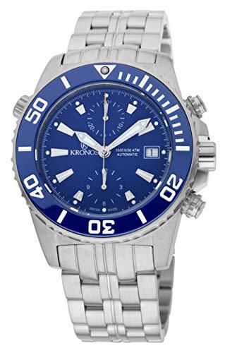 Kronos Herren Uhr Chronograph Automatik mit Edelstahl Armband 736N2.865CHR