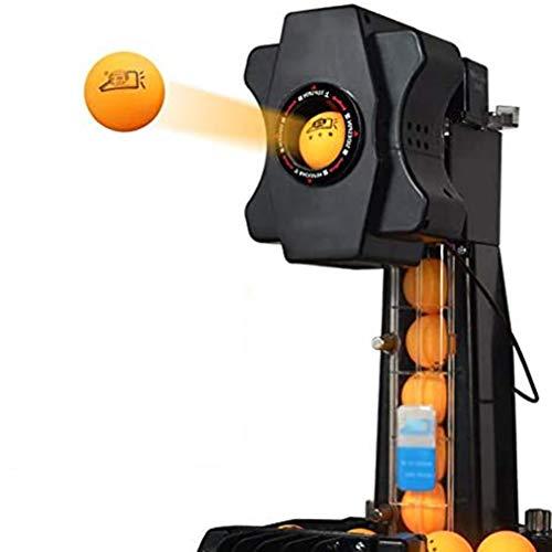 WMING Tischtennis-Maschine Roboter automatischer Ping-Pong-Maschine Wireless-Loop-Service, mit Steuerkasten, Netzabdeckung, Einstellbarer Schwenkbereich für die Ausbildung