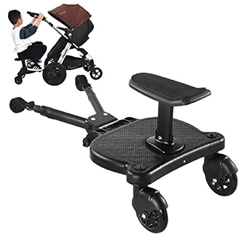 MJZYP Cochecito Pedal Auxiliar Segundo Niño Artefacto Remolque Gemelos Carro De Bebé Dos Niños Placa De Pie Sentado Asiento Cochecito Accesorio (2-6 Años, 25 Kg)