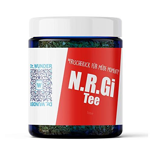 Dr. Wunder® N.R.Gi-Tee 100g: Aktivierende & belebende Kräuterteemischung | idealer Morgentee als Ersatz für Kaffee und Schwarztee | Apotheken-Qualität