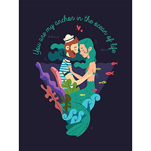 Wee Blue Coo LTD You Are My Anchor Love Sailor Unframed Wall Art Print Poster Home Decor Premium
