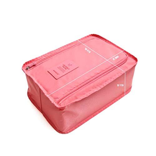 Bolsa de Almacenamiento de Zapatos portátil de Viaje al Aire Libre Bolsa de Zapatos de Malla de Nylon Impermeable (Rojo)