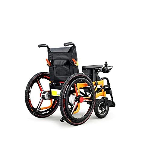 Haoyf Sillas de Ruedas eléCtricas de Cuatro Ruedas para Discapacitados Patinetes para MinusváLidos Plegables Y Ligeros/Lead/Acid Battery / 20A