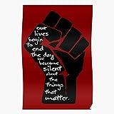 Martin Power Mlk Fist Jr Quote King Activist Resistance Activism Luther Impressionnantes affiches pour la décoration de salle imprimées avec les dernières technologies modernes sur fond de papier sem