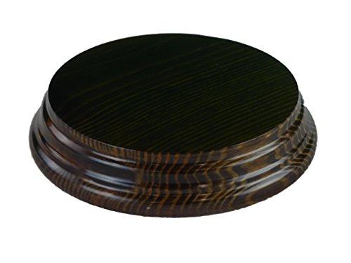 Greca Peanas Redondas. Barnizadas. Diferentes Medidas. Madera Maciza, Barniz Nogal. (Madera, Diámetro Inferior:10 cms.). El diámetros Superior de 9 cms. Altura: 2.5 cms.