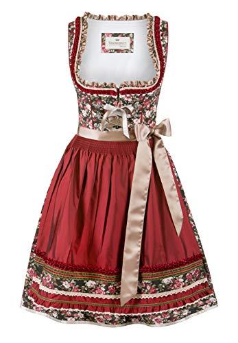 Stockerpoint Damen Dirndl Samia Kleid für besondere Anlässe, Bordeaux, 46