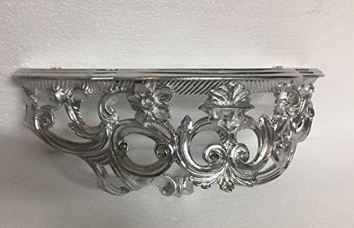 Barock, Konsole, Wandkonsole,Silber Hochglanz, BAROCK Spiegelkonsole, Antik Ornament Cp72, 50x20x24