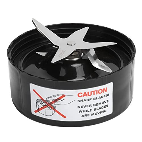 Base de la cuchilla Extractor cruzado de repuesto Base de la cuchilla de acero inoxidable Licuadora Cuchilla de licuadora compatible con Nutribullet