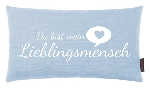 Kissen Lieblingsmensch himmelblau 30x50cm Made in Germany