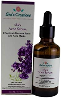 Shas Acne Serum By Shas Creations, For Spot Treatment, Severe Acne, Helps to Reduce Pimple and Redness, MADE IN USA, Organ...