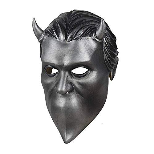 Herocos Nameless Ghouls Latex Mask, Ghost BC Band Mask Halloween...