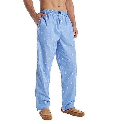 Polo Ralph Lauren Woven Polo Player Lounge Pants, M, Beach Blue