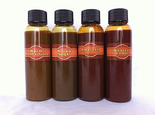 Timber Oil Deep Penetrating Stain for Wood Decks, Wood Fences, Wood Siding, and Log Cabins - Sample Color Kit - Woodrich Brand - 100% Guarenteed - Easy to Use - Great for Testing Our Colors!