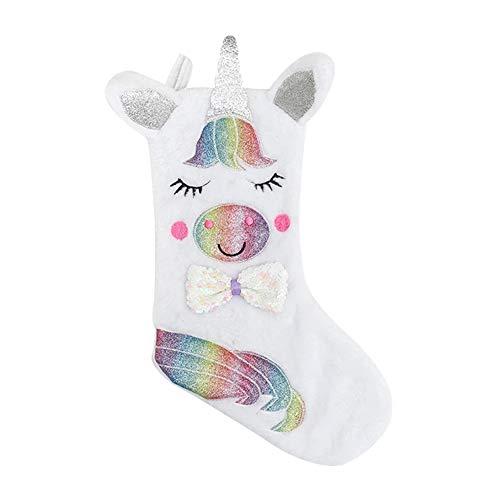 YUIP Unicornio Calcetines navideños, Calcetines navideños, Calcetines navideños, Calcetines Unicornio, decoración del árbol de Navidad