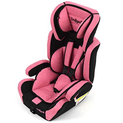 Daliya mitwachsender Autokindersitz Autositz Kinderautositz 9-36kg Gruppe 1+2+3 ECE R 44/04 Rosa - Schwarz