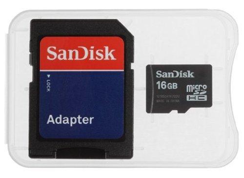 Sandisk Micro Sd / Micro Sdhc 16gb Flash Memory Card for Htc Smartphone Aria Dash Desire Google Nexus One Hd2 S740 Smart Tatto Touch Wildfire Kefers Edition