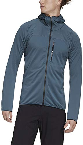 adidas Outdoor Men's Terrex Tracerocker Hooded Fleece Legacy Blue Large