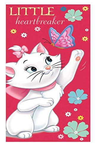 Idea regalo per bambini – Aristogatti Disney – Minou: asciugamano da doccia, telo mare, 100% cotone, 70 x 140 cm