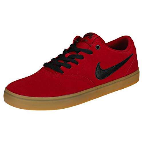 Nike SB Check Solar, Zapatillas de Skateboarding para Hombre, Multicolor (Red Crush/Black-Gum Light Brown 601), 44.5 EU
