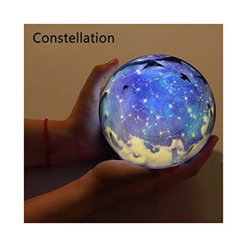Veilleuse Projecteur Starry Terre Univers lumières LED gyrophares nuit avec câble USB garçons et filles de fête d'anniversaire de Noël Cadeaux (Color : Constellation-Not Rotate)