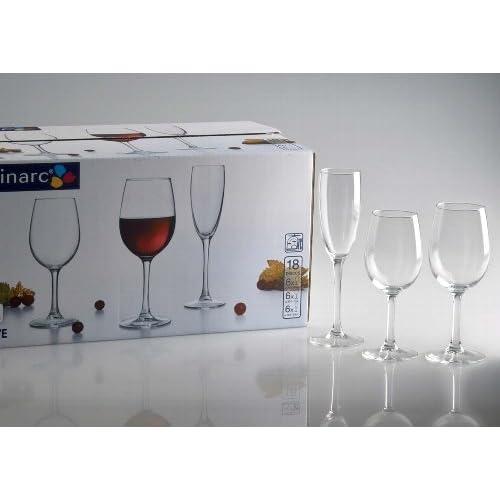 Bicchieri 18Bicchieri la cave Je 6Calici, Bicchieri di vino e bicchieri di vino rosso