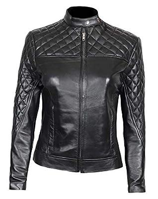Decrum Black Womens Leather Jacket for Adults | [1300424] Ellen, L