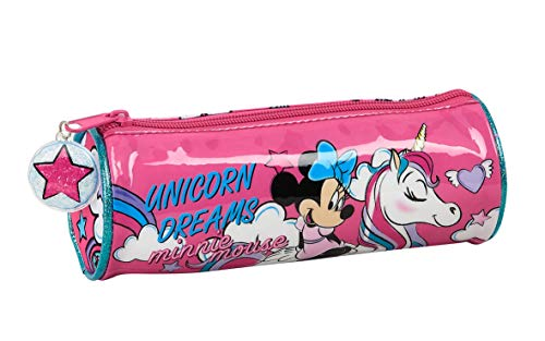 Estuche Redondo Escolar de Minnie Mouse, 200x70mm
