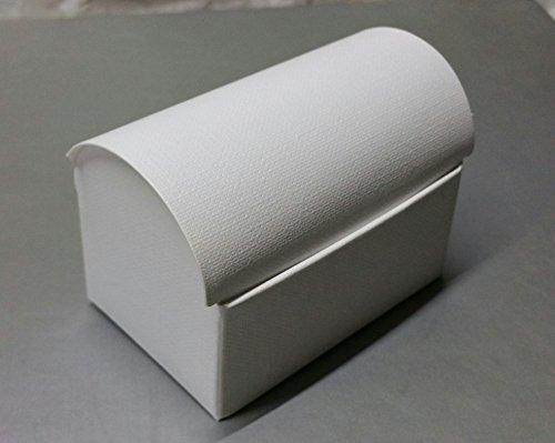 10 boîtes Etui coffre pliable Carton x Bomboniere Blanc 7 x 4,5 x 5,2 cm