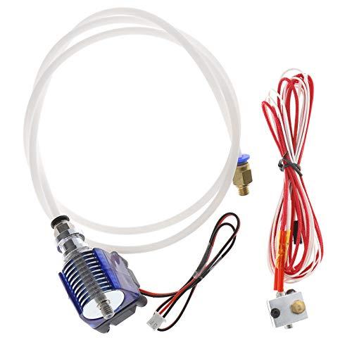 Juego de impresora 3D e3D V6 J-Head de metal, extrusora de 1,75 mm/0,4 mm, boquilla extrusora de larga distancia