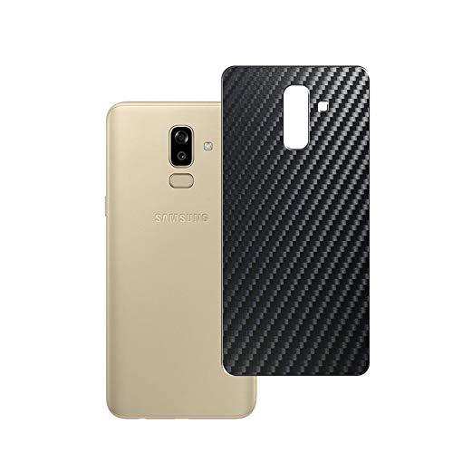 Vaxson 2 Unidades Protector de pantalla Posterior, compatible con Samsung Galaxy J8 2018, Película Protectora Espalda Skin Cover - Fibra de Carbono Negro