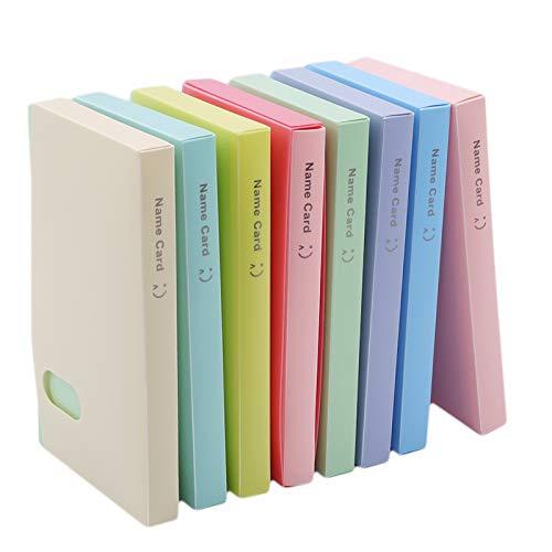Momyeah AlbumLibro de Almacenamiento de Tarjetas de Visita Portable 120Versión Coreana del Libro de Almacenamiento de Tarjetas de Visita Creativas Soporte de Tarjetas de Visita, Beige