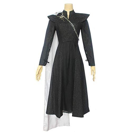 LOTOTLOMCA Daenerys Targaryen Disfraz Cosplay Adulto Disfraz De Halloween Tops + Falda Plisada + Capa + Cadena + Hombro del Grifo,M