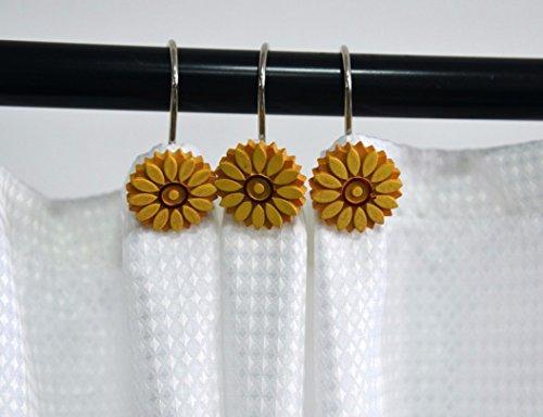 cortinas baño girasol