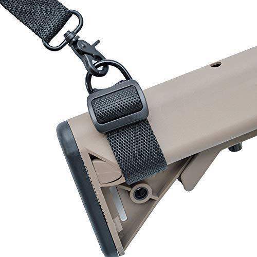 2 pacchi Buttstock Sling Adapter Cinghia Gunstock cinturino per attacco pistola per fucile, fucile, airsoft allegare a 1 Punto pistola dell'imbracatura o 2 punti pistola fionda, Lunghezza regolabile