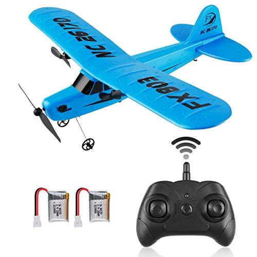Crazepony Avión teledirigido FX-803 2,4 GHz, 2 canales, avión teledirigido FX-803 de 6 ejes, giroscópico EPP, listo para volar, fácil de volar, para principiantes y adultos