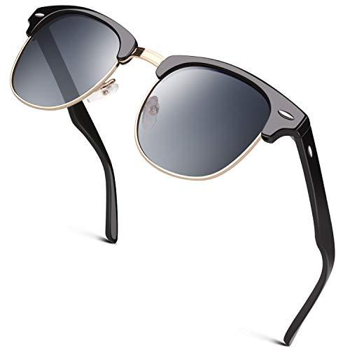 GQUEEN Gafas de sol polarizadas Hombre Mujer Bocina enculado Medio Marco GQO6
