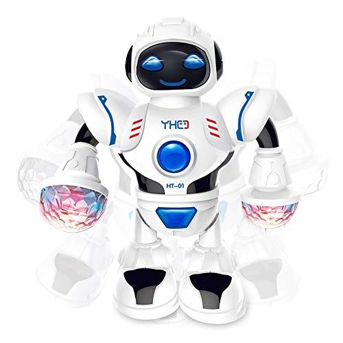 YUIP Roboterspielzeug, Roboter Kinder Spielzeug, Roboter Spielzeug für Kinder, Roboterspielzeug Elektrischer singender Tanzender Roboter mit blinkendem LED-Licht Geschenke für Kinder