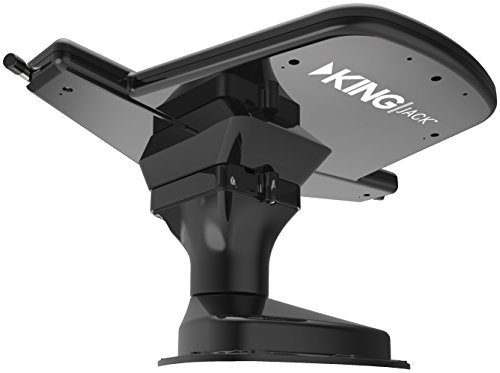 KING OA8201 Jack HDTV Over-the-Air Antenna with Mount and Built-in Signal Meter - Black (Discontinued by Manufacturer)