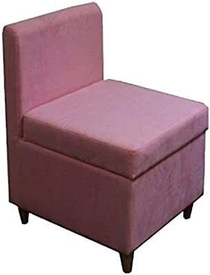 """Ore International 28.5"""" H Accent Chair with Storage (Pink)"""