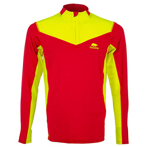 FORSBERG Skjorta Funktionsshirt Langarm perfekt für Forst, Freizeit und Arbeit, atmungsaktiv und robust, Farbe:rot, Größe:S