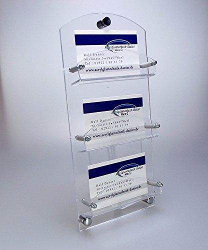 Visitenkarten Wandhalter,Visitenkarten Halter gewölbte Form aus Acrylglas 3-Fach