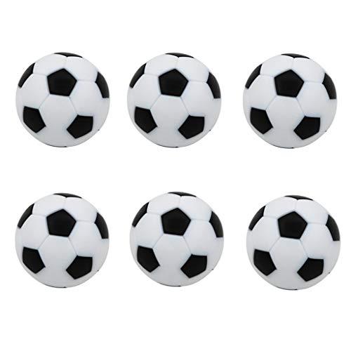 MagiDeal Palline Di Ricambio Per Calcio Balilla Da Calcio Da 6 Pezzi - Mini Palloni Da Calcio Palloni Da Calcio Da 32 Mm - Colori Multipli - Nero